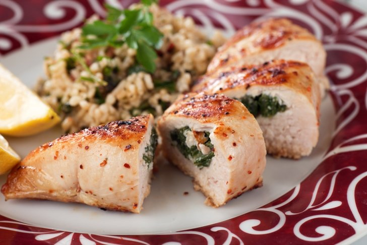 Heart Healthy Spinach And Mushroom Stuffed Chicken