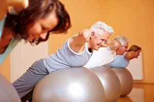 Senior fitness classes can help older adults stay in shape.