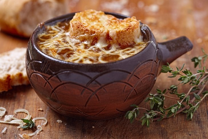 Delicious French Onion Soup can help keep you warm