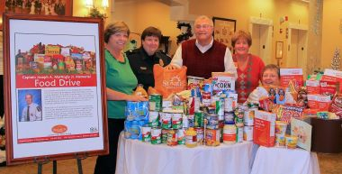 Brighton Gardens Of Tuckerman Lane Hosts Food Drive