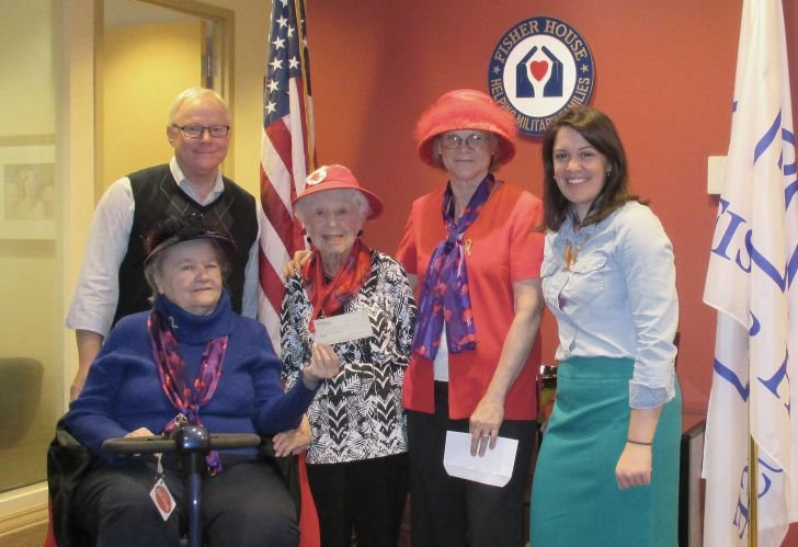 Bedford Court's Red Hat Society Fundraisers for the Fisher House