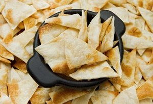 Homemade tortilla chips are a healthier alternative to store-bought.
