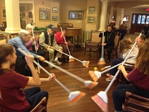 Games in review sunrise senior living olympics a great for Fall craft ideas for seniors