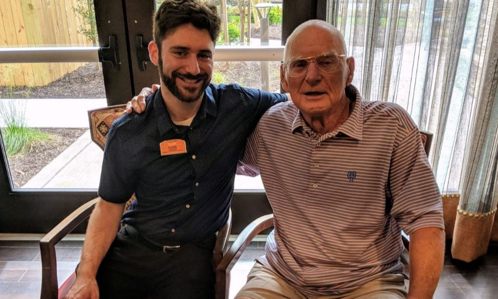 Sunrise of Bethesda, MD, Respite Resident Strikes Up Poetic Bond with Team Member