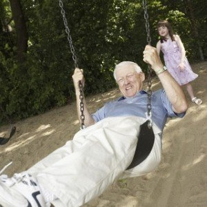 Man in swing