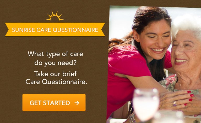 Take the Sunrise Care Questionnaire