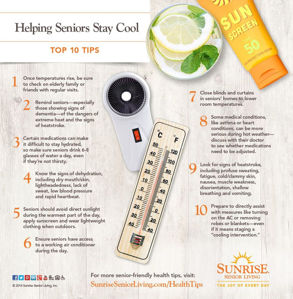 Helping Seniors Stay Cool Infographic