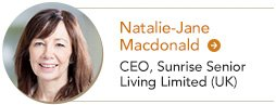 Natalie Macdonald CEO Sunrise Seinor Living Limited UK