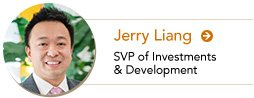Jerry Liang, VP of Investments and Development