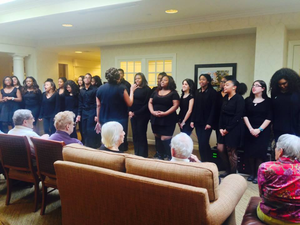 The Passaic County Tech School Choir came to sing for our residents here at Sunrise of Wayne, NJ