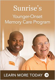 Only at Sunirse of Dublin! Sunrise's Younger Onset Memory Care Program | Learn More Today