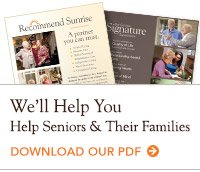 We'll help you help seniors & their families. Download our PDF