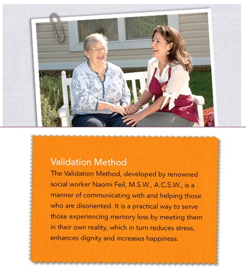 Woman sitting on bench holding hands with validation method copy